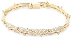 Adriana Orsini Women's Crystal and 18K Gold Line Bracelet