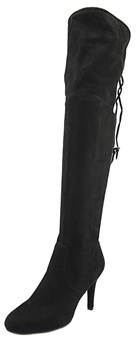 Rialto Calla Women Pointed Toe Synthetic Black Over The Knee Boot.