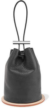 Building Block - Disc Textured-leather Bucket Bag - Black