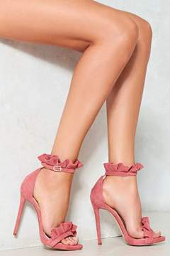 Nasty Gal Time to Dance Ruffle Heel