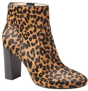 Banana Republic Printed Haircalf Block Heel Bootie
