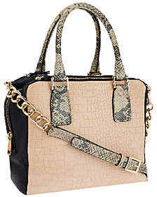 As Is Marc Fisher Kyra Triple Compartment Leather Satchel