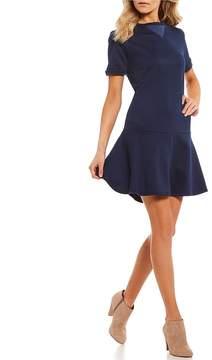 Copper Key Short Sleeve Sweatshirt Dress