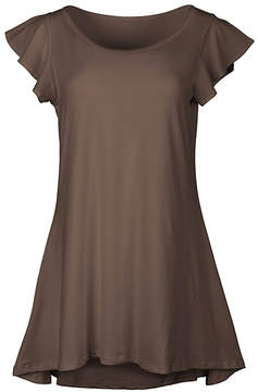 Lily Brown Flutter-Sleeve Tunic - Women & Plus