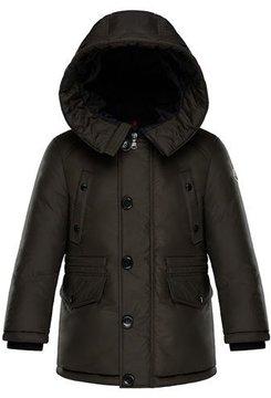 Moncler Dirk Long-Parka Coat, Size 4-6