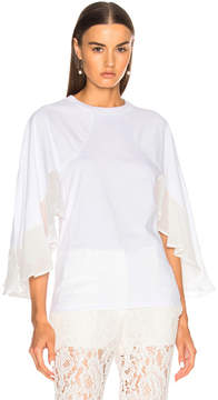 Chloé Jersey Blouse with Crepon Sleeves
