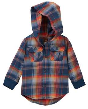 Tea Collection Cooper Button Baby Hoodie (Baby Boys)