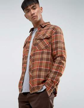 Brixton Bowery Flannel Check Shirt in Standard Fit