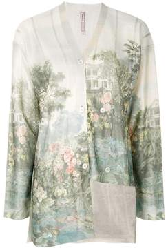 Antonio Marras asymmetric printed cardigan