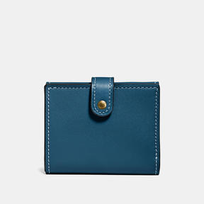 COACH Coach Small Trifold Wallet - OLD BRASS/DARK DENIM - STYLE