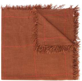Faliero Sarti checked frayed edge scarf