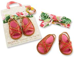 Baby Aspen Baby Girl Tropical Headband and Flip-Flop Gift Set