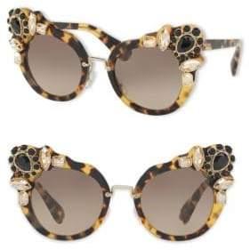 Miu Miu 52MM Crystal-Embellished Cat-Eye Sunglasses