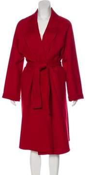 Isa Arfen Long Wool-Cashmere Coat