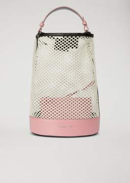 Emporio Armani Bucket Bag In Perforated Fabric