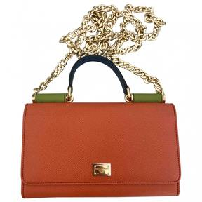 Dolce & Gabbana Sicily leather mini bag - ORANGE - STYLE