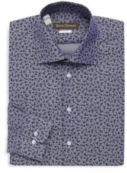 Hickey Freeman Floral Cotton Dress Shirt