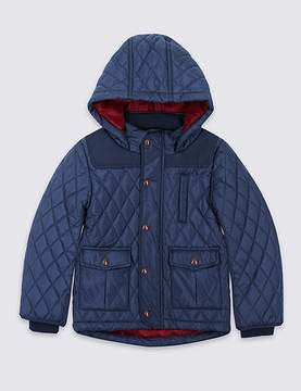 Marks and Spencer Hooded Neck Quilted Coat with StormwearTM (3 Months - 5 Years)