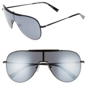 KENDALL + KYLIE Women's Shield Aviator Sunglasses - Black/ Black