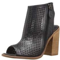 Kelsi Dagger Womens Mason Leather Peep Toe Ankle Fashion Boots.