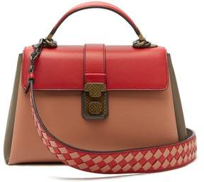 Bottega Veneta Piazza Small Leather Bag - Womens - Red Multi