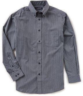 Roundtree & Yorke Big & Tall Long-Sleeve Striped Sportshirt