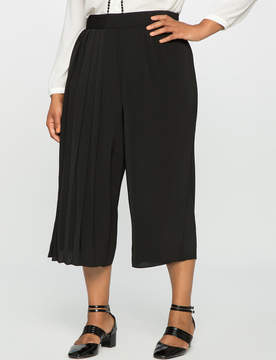 ELOQUII Studio Cropped Pleated Pant