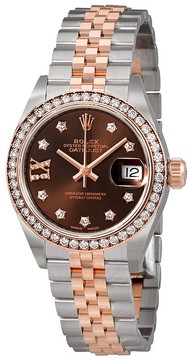 Rolex Lady Datejust Champagne Roman Diamond Dial Automatic Watch