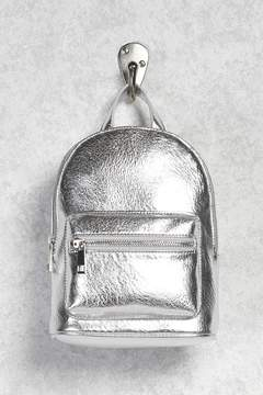 FOREVER 21 Metallic Faux Leather Backpack