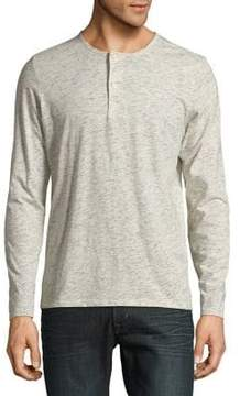 Selected Space Dyed Long-Sleeve Henley