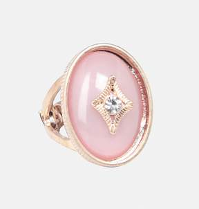 Avenue Pink Oval Stretch Ring