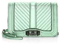 Rebecca Minkoff Chevron Patchwork Small Love Crossbody - MINT - STYLE