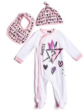 GUESS Three-Piece Coverall Set (0-12M)