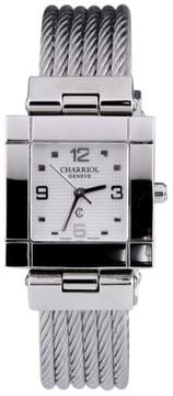 Charriol Geneve Stainless Steel Watch White Dial Quartz 25mm Women