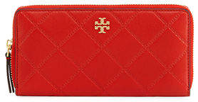 Tory Burch Georgia Continental Zip Wallet - BLACK - STYLE