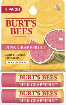Burt's Bees Pink Grapefruit Lip Balm 2 Tubes