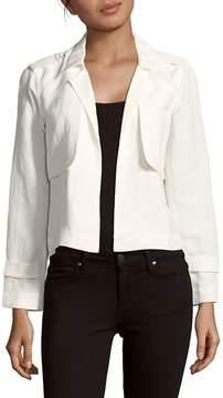 Leo & Sage Women's Solid Open-Front Jacket