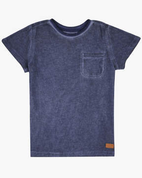 7 For All Mankind Boys 4-7 Short-Sleeve Crew-Neck Burnout Jersey Pocket T-Shirt in Blue
