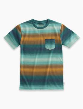 Lucky Brand Short Sleeve Ombre Stripe Tee