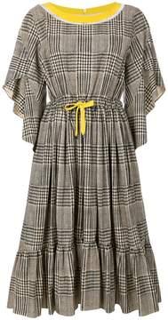 Fendi flared checked dress