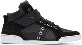 Jimmy Choo Black Lewis Sport High-Top Sneakers