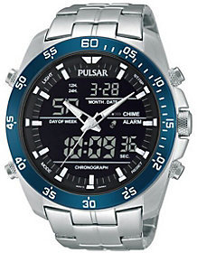 Pulsar Men's Digital & Analog Chronograph Stainless Watch