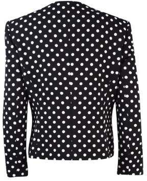 Nine West Women's Polka Dotted Button Jacket