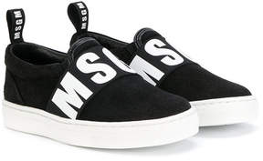 MSGM slip-on logo sneakers