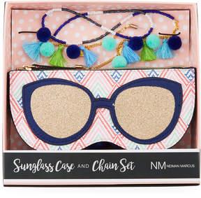 Neiman Marcus Sunglass Case and Chain Set