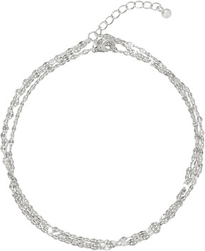 Bliss Sterling Silver Sparkle-Chain Triple-Layered Anklet