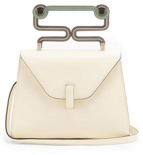 Valextra Iside Mini Grained Leather Bag - Womens - White Multi