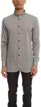 Naked & Famous Denim Long Shirt Crinkle Horizontal Stripes