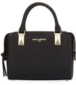 Karl Lagerfeld Paris Kendall Mini Saffiano Satchel Bag