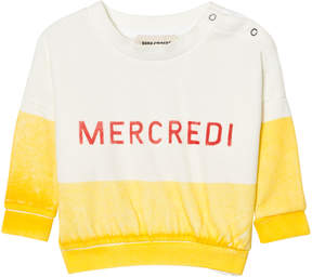 Bobo Choses Yellow Mercredi Boat Sweatshirt